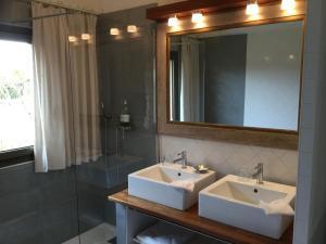 Salle de bains dans l'établissement La Maison de Manon