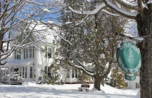 White Cedar Inn Bed and Breakfast during the winter