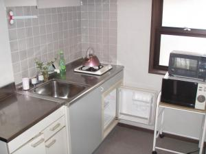 A kitchen or kitchenette at Landhaus Dancru Netz