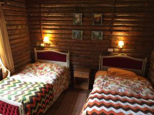 Cama o camas de una habitación en Lodge Lago Las Torres