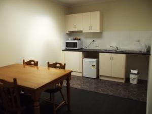 A kitchen or kitchenette at Heyfield Railway Hotel