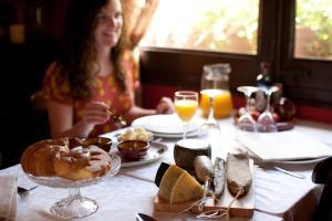 Opciones de desayuno disponibles en Casa Leonardo