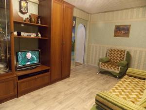A television and/or entertainment centre at Apartment on Gagarina