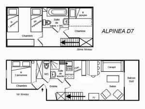 The floor plan of Résidence Alpinea