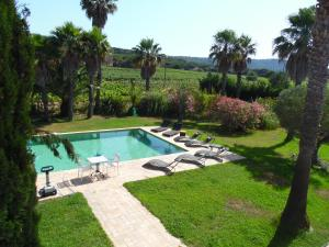 A view of the pool at Clos des Vignes Pampelonne Vineyard or nearby