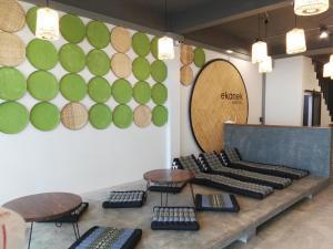 A seating area at Ekanek Hostel