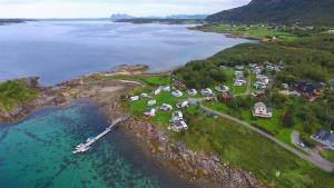 A bird's-eye view of Sandhornøy Camping
