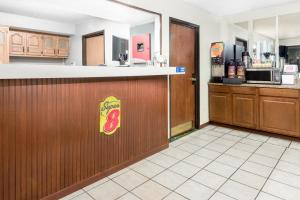 The lobby or reception area at Super 8 by Wyndham Kent/Akron Area