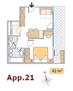 Grundriss der Unterkunft Apartments Residence Alta Badia