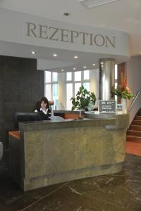 Lobby/Rezeption in der Unterkunft Atrium Hotel Krüger