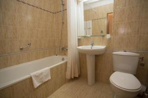 A bathroom at Laplandia Hotel