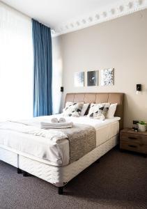 Säng eller sängar i ett rum på Hotel Hötorget