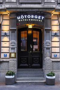 Fasaden eller entrén till Hotel Hötorget