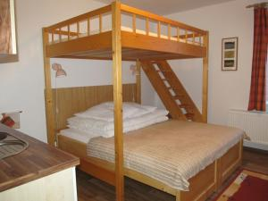 A bunk bed or bunk beds in a room at Berger Pec Privat