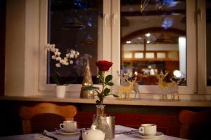 Ein Restaurant oder anderes Speiselokal in der Unterkunft Central-Hotel Torgau