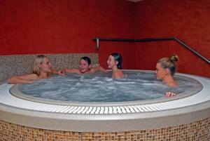 Bazén v ubytování Wellness Pension 7 nebo v jeho okolí