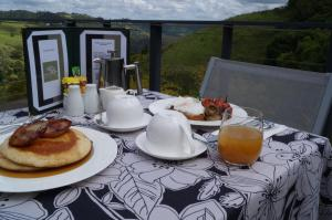 Breakfast options available to guests at Top Of The Hill