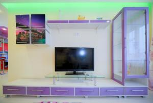 A television and/or entertainment center at Five Stars Luxury on Revolution Square