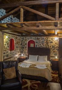 Letto o letti in una camera di Guesthouse Elati - Pella