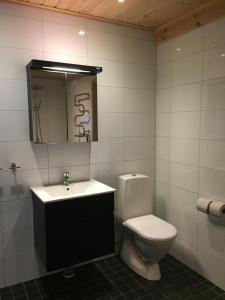 Ett badrum på Rundbergs Stugor