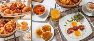 Breakfast options available to guests at Settha Palace Hotel