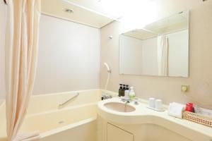 A bathroom at HOTEL GLOBAL VIEW Niigata