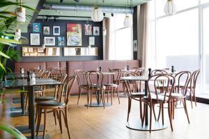 En restaurang eller annat matställe på Comfort Hotel Karl Johan