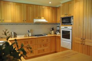 A kitchen or kitchenette at Tombolo Lodge