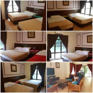 A bunk bed or bunk beds in a room at Green Villa Famosa Alor Gajah