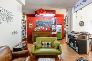 The lobby or reception area at Hostel of the Sun