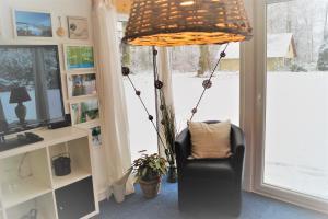 Ein Sitzbereich in der Unterkunft Guesthouse Biederitz