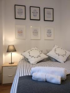 Cama o camas de una habitación en Apartamento Calle Paz