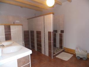 Salle de bains dans l'établissement A La Mare du Vieux Chêne