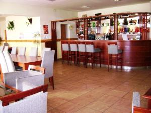 The lounge or bar area at Károly Róbert Diákhotel