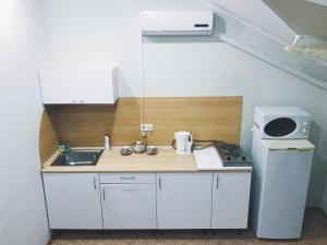 A kitchen or kitchenette at Apartments Altinay on Bannoe Lake
