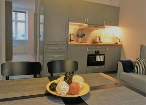 A kitchen or kitchenette at Kapelvej Apartments