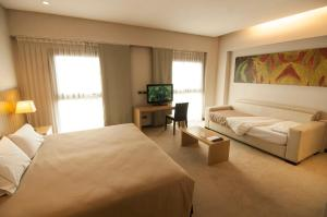 A television and/or entertainment center at Mod Hotels Mendoza