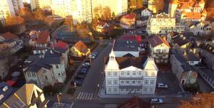 A bird's-eye view of Dwie Wieże