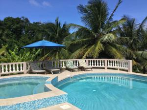 The swimming pool at or near Petite Anse Hotel