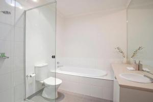 A bathroom at 23 Coast Drive Torquay