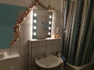 Ein Badezimmer in der Unterkunft Gasthof Müller