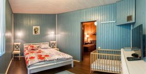 Кровать или кровати в номере Хутор Микли