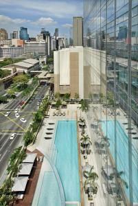 A view of the pool at Fairmont Makati or nearby