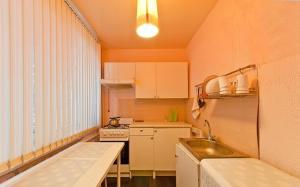 Кухня или мини-кухня в Апартаменты на проспекте Большевиков, д. 5