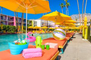 The swimming pool at or near The Saguaro Palm Springs