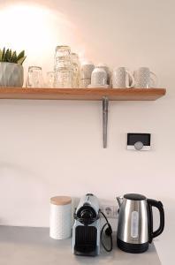Coffee and tea-making facilities at INTIKA Beach House