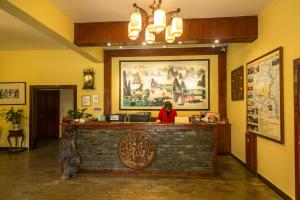 The lobby or reception area at Snow Lion Riverside Resort