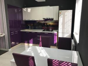 A kitchen or kitchenette at Apartment on Bogdana Khmelnitskogo