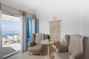 Χώρος καθιστικού στο Andromeda Villas & Spa Resort