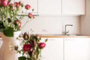 A kitchen or kitchenette at Gästehaus Meusburger